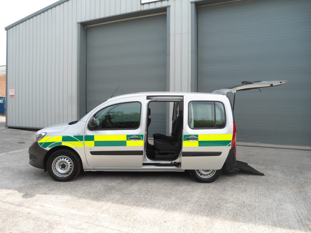 Mercedes Citan converted to wheelchair accessible ambulance