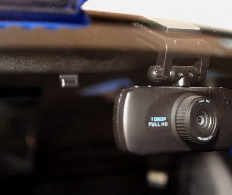 camera in dashboard area of car