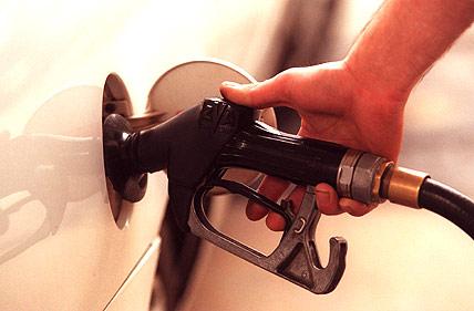 gas pump filling up car