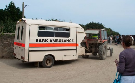 sark tractor drawn ambulance