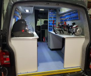 VW Transporter T6 with functional workspace
